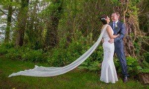 A Wedding Cloak or Wedding Cape by Wilde by Design as an alternative to a wedding veil
